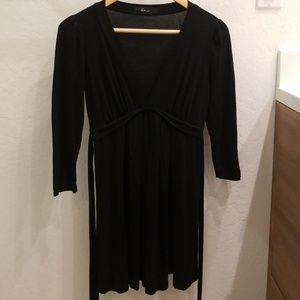 Black tunic quarter sleeve top/dress size small